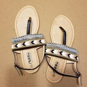 Air Balance tribal beaded sandal